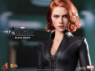 Hot Toys The Avengers 2012 Black Widow Scarlett Johansson New 1 6