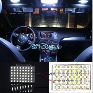 New 48 SMD Interior Led Light Panel Festoon Dome Door Box 1210