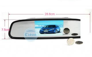 LCD Car Rear View Mirror Monitor Auto Switch Touch Screen New