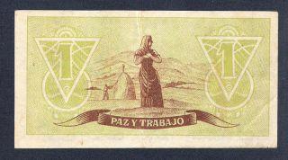 SPANISH CIVIL WAR 1 PESETA 1937 ASTURIAS Y LEON *** RARE ***