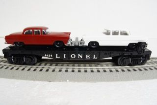 Lionel Twin Auto Car w Autos Train Carrier Automobile O Gauge 6 27744