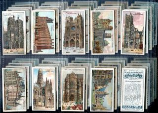 Tobacco Card Set,WD & HO Wills,GEMS OF FRENCH ARCHITECTURE,France