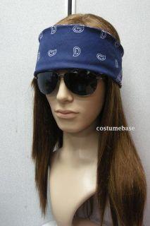 AXL Rose WIG + Bandana + Glasses Heavy Metal Gun And Roses Costume