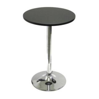 New Modern Spectrum Round Bistro Table Black Chrome