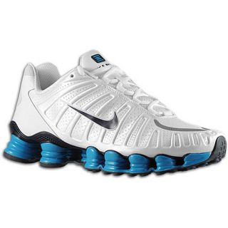 MENS NIKE SHOX TLX RUNNING SHOES TRAINERS WHITE / BLUE TL 15