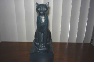 Vintage RARE Austin Productions 1966 Black Cat Statue Sculpture