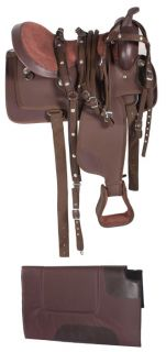 17 Texas Star Synthetic Cordura Western Horse Pleasure Trail Saddle