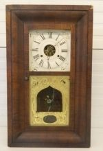 Antique Seth Thomas Ogee Mantel Clock 1860 Weight Driven Shelf Brass