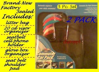Pk. 5 Piece Axius Auto Expressions Car Accessory Kit W/ Visor CD DVD