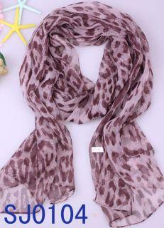 Fashional Styles Leopard Print Ladies Long Soft Scarf Wrap Shawl