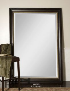 Axton Large Wood Beveled Wall Floor Mirror