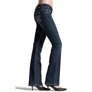 New Miss Me Jeans Fleur de Lis Crystals JP5145 Sz 27