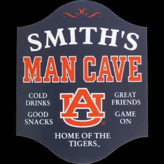Wood Wall Home Auburn Tigers Man Cave Game Room Sign