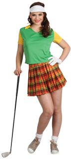Costume Outfit Hat Mens Ladies Golfer Sports Fancy Dress Pub Golf