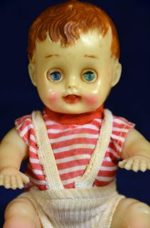 Baby Boy Doll 6 Fluttering Sleep Eyes Movable Tongue 1950s