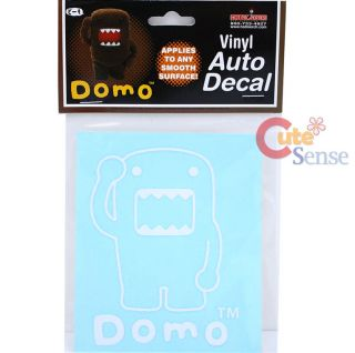 Domo Kun Vinyl Auto Decal Window Clings White Domo Auto Accessories