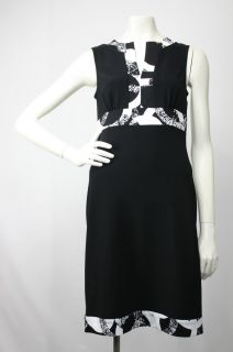 Joseph Ribkoff Black White Cocktail Dress Sz 8 UK 10 New NWT