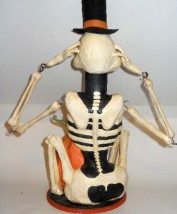 Bethany Lowe Smith Rucus Studio RARE Skeleton Sam Halloween Candy