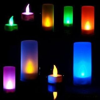 Flicking LED Auto Change lights Candle Tea Light for Party Wedding