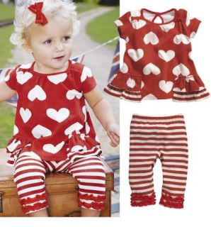 Baby Clothes 3 12M Top Pants 2 Pcs Girls Outfit Summer Set Toddler