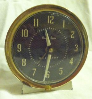 Brown Gold White Baby Ben Mechanical Wind Up Alarm Clock Works