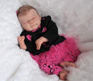 LITTLE HILLIES* Reborn newborn baby girl doll. Franklin by Elisa Marx
