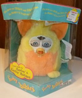 Furby Baby Interactive Talking Toy Yellow Pink Peach 1999 Hasbro Tiger