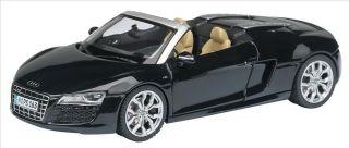 Coche Miniatura Metal Escala 1 43 Audi R8 Spyder Negro