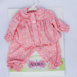 Adora Baby Doll Clothing Outfit & Accessories Pink Pajamas 20 New in