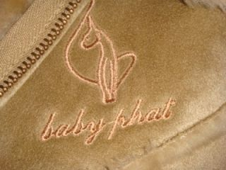BABY PHAT Beige Tan Coat Jacket Size Small