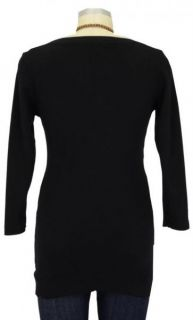 New JAPANESE WEEKEND Maternity CHIC Boatneck 100% Cotton NURSING TOP S