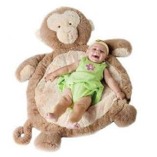 Inc Monkey Plush Animal Baby Infant Play Mat Gear 02532 New