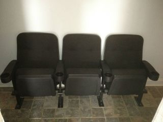 Set of 3 THEATER CHAIRS HOME THEATRE Seating MOVIE SEATs CINEMA