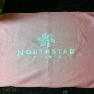NEW PINK BABY SHOWER BLANKET COVER NORTH STAR LAKE TAHOE SNOW SKI