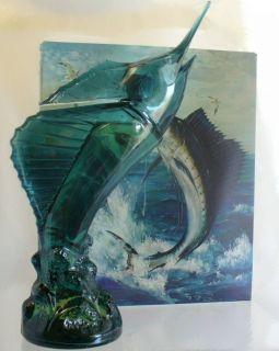Avon Vintage 1972 Sea Trophy Windjammer After Shave Blue Marlin Full 5