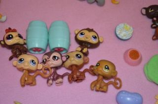 AW Littlest Pet Shop Lot 419 Pieces Pets Carrier Houses Dog Cat Bird