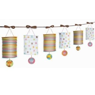 Price Baby Shower PAPER LANTERN GARLAND Supplies Tableware Decorations