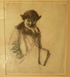 William Auerbach Levy The Talmud Original Etching