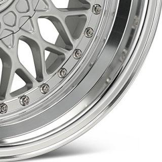 17 AXIS Klassic SilverPolish Lip Wheels Rims Fit Honda Accord (1982