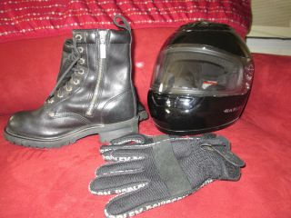 Full Face Helmet Small or Boots 7 5 or Gloves Motorcycle