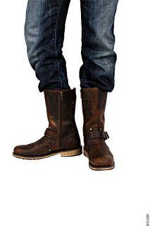 Harley Davidson Size 8 Jayden Mens Brown Engineer Boot Leather Biker