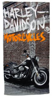 Harley Davidson Softail Street Beach Towel 30 in x 60 In