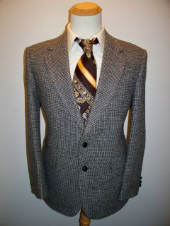 Mens VTG wool MOD slimfit TWEED ~Austin Manor~ Blazer sport coat 42 R