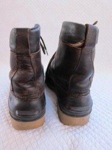 Baffin Canada Rubber Leather Lace Up Duck Boots Waterproof Thinsulate