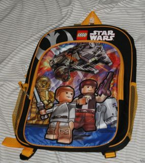 Lego Star Wars Rebel School Backpack Hans Solo Luke Skywalker R2D2