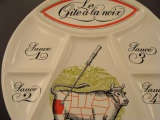 French Porcelaine DAuteuil Gite ALa Noix Steak Plate