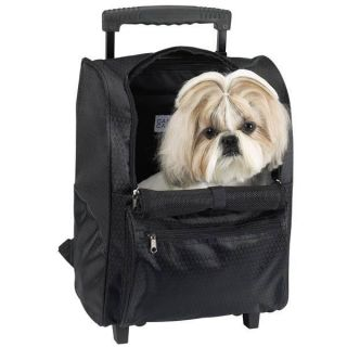 Casual Canine Deluxe Backpack Pet Dog Cat Carrier on Wheels