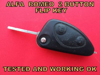 ALFA ROMEO 2 BUTTON CAR REMOTE CONTROL ALARM KEY FOB TESTED AND