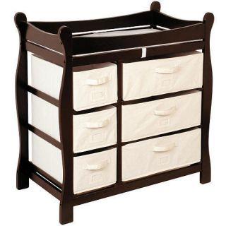 Badger Basket 6 Drawer Storage Dresser Changing Table Changer EXPRESSO