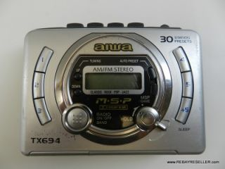 HS TX694 Am FM Personal Portable Stereo Cassette Player Walkman